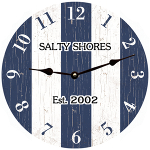 Blue Striped Clock