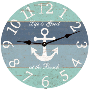 Nautical Anchor Beach Clock