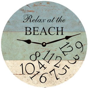 Relax At The Beach Clock