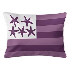 Beach Flag Lumbar Pillow - Sea Urchin