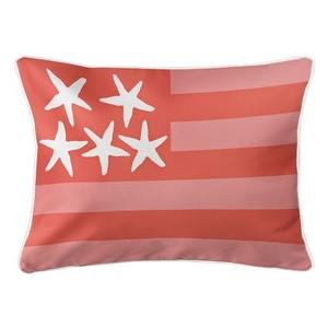Beach Flag Lumbar Pillow - Spoonbill