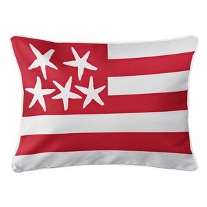 Beach Flag Lumbar Pillow - Admiral