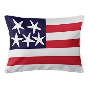 Beach Flag Lumbar Pillow - Patriot