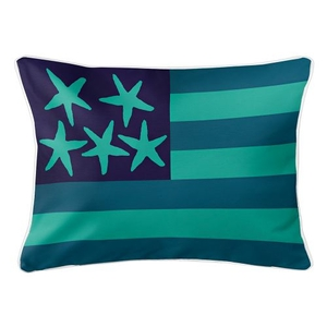 Beach Flag Lumbar Pillow - Pacific