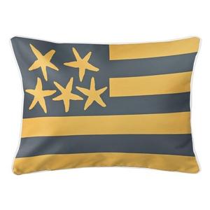 Beach Flag Lumbar Pillow - Driftwood