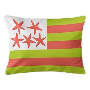 Beach Flag Lumbar Pillow - Key Lime