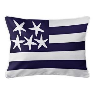 Beach Flag Lumbar Pillow - Atlantic