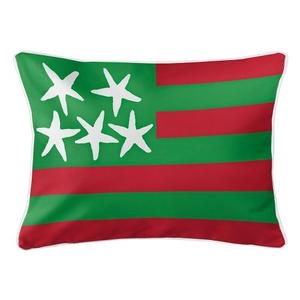 Beach Flag Lumbar Pillow - Holiday