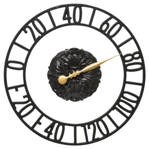 """Cambridge Floating Ring 21"""" Indoor Outdoor Wall Thermometer, Black"""