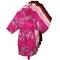 Red Floral Satin Robe (L - Xl)