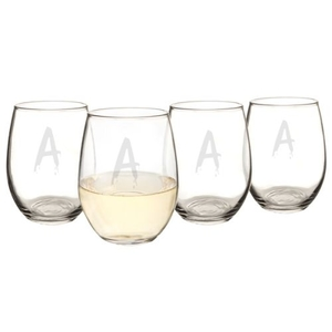Personalized Spooky 21 Oz. Stemless Wine Glasses