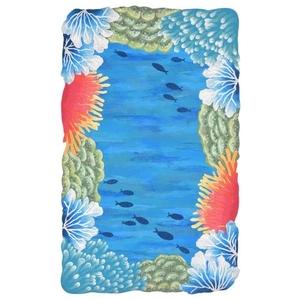 "Liora Manne Visions Iv Reef Border Indoor/Outdoor Rug Blue 27""X8'"