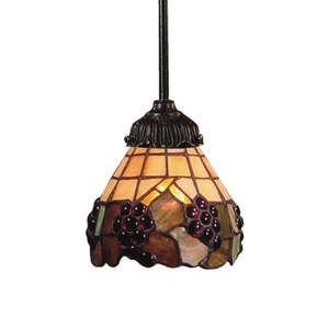 Mix-N-Match 1 Light Pendant In Vintage Antique And Stained Glass
