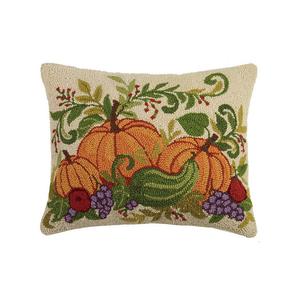 Fall Harvest Pumpkins Hook Pillow