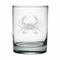 Crab Etched DOR Glass Set