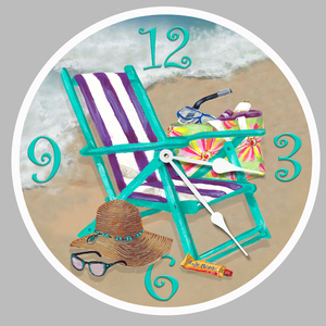 Day Off At The Beach Clock Round