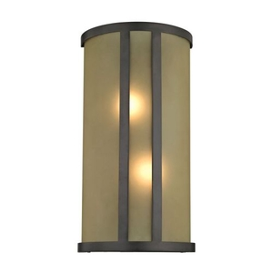 2 Light Wall Sconce In Oil Rubbed Bronze