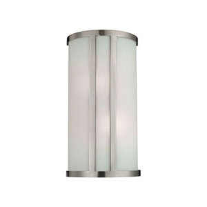 2 Light Wall Sconce In Brushed Nickel