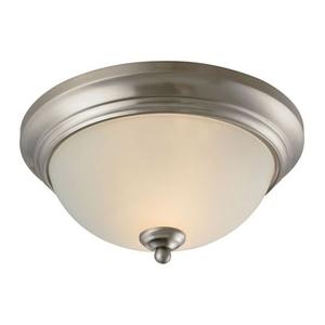 Huntington 2 Light Ceiling Lamp In Brushed Nickel