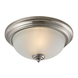 Huntington 3 Light Ceiling Lamp In Brushed Nickel