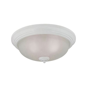3 Light Flush Mount In White