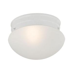1 Light Mushroom Flushmount In White