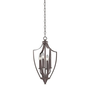 Foyer Collection 4 Light Pendant In Oil Rubbed Bronze