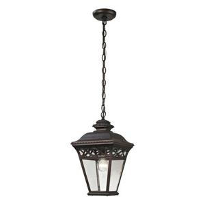 Mendham 1 Light Exterior Pendant Lantern In Hazelnut Bronze
