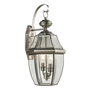 Ashford 2 Light Exterior Coach Lantern In Antique Nickel