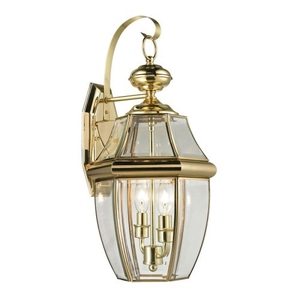 Ashford 2 Light Exterior Coach Lantern In Antique Brass