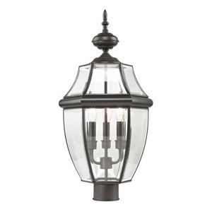 Ashford 3 Light Exterior Post Lantern In Oil Rubbed Bronze