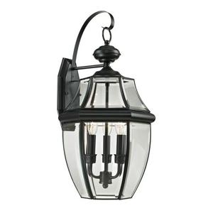 Ashford 3 Light Exterior Coach Lantern In Black