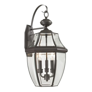 Ashford 3 Light Exterior Coach Lantern In Oil Rubbed Bronze
