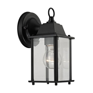 1 Light Outdoor Wall Sconce In Matte Black