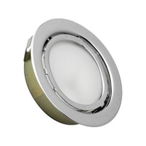 Aurora 1 Light Recessed Disc Light In Chrome