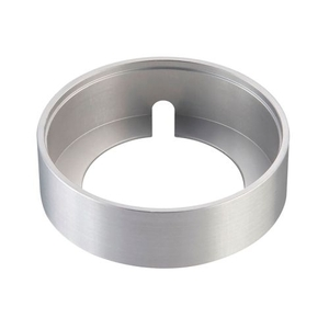 Alpha Collection Surface Mount Collar In Brushed Aluminum