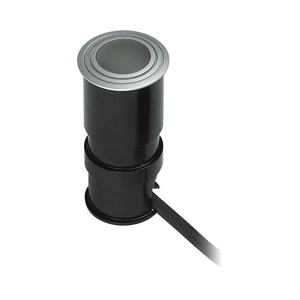 Alpha Collection 1 Light Wet Location Led Button In Brushed Aluminum