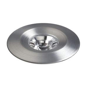 Alpha Collection 1 Light Led Mini Button In Brushed Aluminum