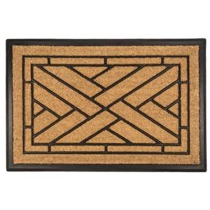 Diagonal Tiles Recycled Rubber & Coir Doormat