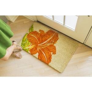 Tangerine Lily Handwoven Coconut Fiber Doormat