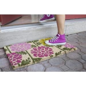 Dahlias Hand Woven Coir Doormat
