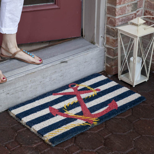 Anchor Hand Woven Coir Doormat