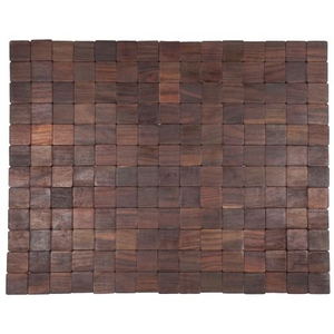 Mather Exotic Wood Mat - Natural 18X30