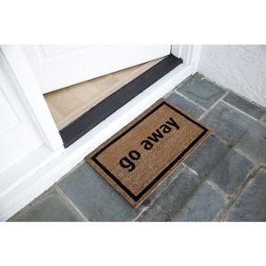 Go Away Black Non Slip Coir Doormat