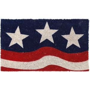 Stars And Stripes Non Slip Coir Doormat