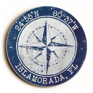 Custom Coordinates Round Sign - Navy