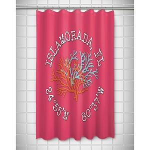 Custom Coral Duo Coordinates Shower Curtain - Pink