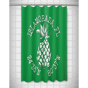 Custom Pineapple Coordinates Shower Curtain - Green