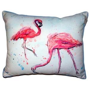 Funky Flamingos Large Indoor Outdoor Pillow