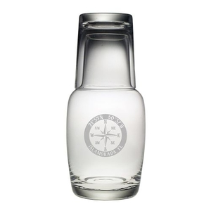 Custom Coordinates Compass Rose Night Bottle Set